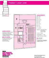 Floor Plan Pdf Space Rental New Museum