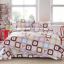 Comforter Sets For Teens Bedding by Decorative Bedding Accessory For Girls Or Boys With Brown Alphabet
