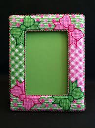 free printable halloween plastic canvas patterns pastel frame mini mirror free plastic canvas pattern of the day
