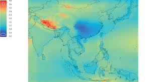 Himalayas On World Map by Daylight Mapping Planet Earth