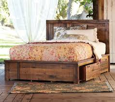 Platform Bed Drawers Rustic Platform Bed Drawer How To Go Rustic Platform Bed