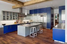 modern kitchen photo modern stainless steel u0026 blue bliss modern kitchen center