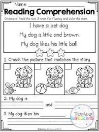 free first grade reading comprehension passages set 1 english
