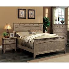 Oak Bed Set Furniture Of America Shoreline 3 Weathered Oak Bed Set