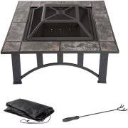 Fire Pit Poker by Fire Pit Set Wood Burning Pit Includes Screen Cover And Log