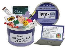 New Home Gift by New Home Survival Kit In A Can Humorous Novelty Fun Gift
