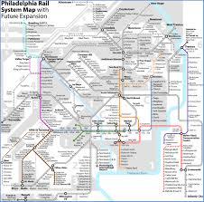Phl Airport Map Septa U0027s Rail Lines Map