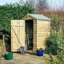 rowlinson oxford shiplap apex shed 4x3 garden street