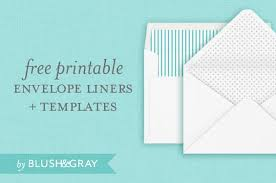 free envelope liners and templates blush u0026 gray