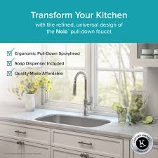kitchen faucet set kraususa com kraus kpf 1630 ksd41ch kitchen faucet set nola single handle pull down dual