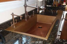 copper kitchen sink faucets drop in top mount custom copper sinks made in the usa