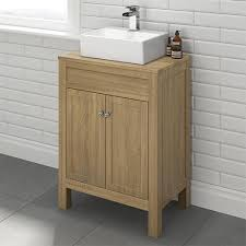 countertop bathroom sink units model cbu1 600mm melbourne oak effect countertop unit basin