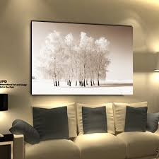 Home Decoration Paintings Wall Art Snow Tree Modern Canvas Painting Cuadros Decoration