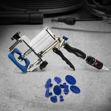 flow lexus body shop air pneumatic dent puller glue pad
