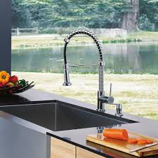spiral kitchen faucet vigo industries vg02001 single lever spiral faucet with