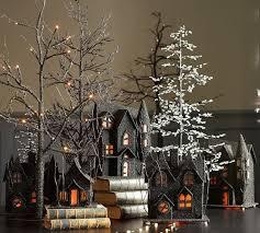 spooky black german glitter trees pottery barn 2015
