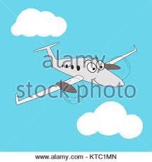 imagenes animadas de aviones estilo de dibujos animados sonrientes en un avión turbohélice de