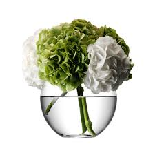 Large Round Glass Vase Buy Lsa International Flower Round Bouquet Vase Amara