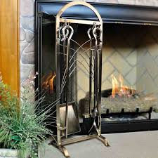 5 piece satin nickel fireplace tool set northline express