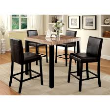 tiburon 5 pc dining table set coaster fattori 5 piece counter height dining table set dining