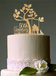 50th cake topper fresh decoration 50th anniversary cake topper peachy ideas