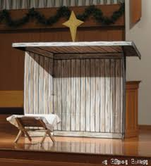 nativity cardboard turned wood stable welcome to the