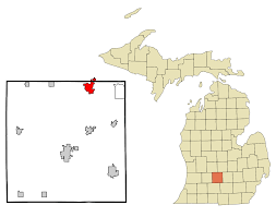 Michigan Map With Counties by Grand Ledge Michigan Wikipedia
