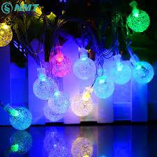 20ft 30 led cristal boule solaire chaîne globe guirlande lumineuse