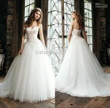 tulle wedding dress discount classic style a line tulle wedding dress with