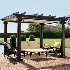 Steel Pergola With Canopy by Outdoor Dining Table Betterimprovement Com