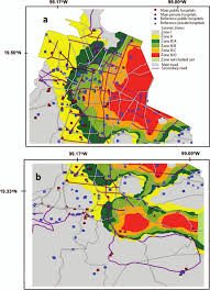 Mexico City Mexico Map by Spatial Analysis Of The Level Of Exposure To Seismic Hazards Of