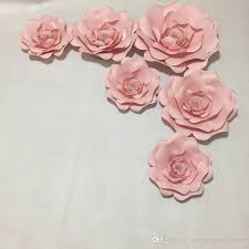 paper backdrops 2018 baby pink paper flowers for girl s party wedding decor