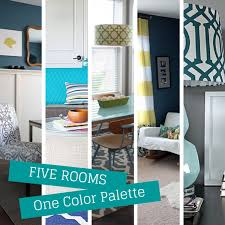 how to use the same color palette five different ways of