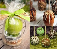 caramel apple party favors green caramel apple wedding favors white simple wooden brown