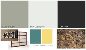 mid century home exterior mood board midcentury paint
