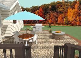 exposed aggregate concrete patio design for winghaven o fallon