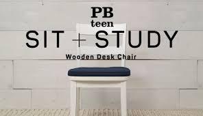 Wooden Desk Chair Wooden Desk Chair Sit Study Pbteen Youtube