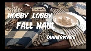 new hobby lobby farmhouse inspired home decor and dinnerware youtube
