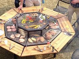Table Firepit Propane Pit Table Dining Set Gas Shocking