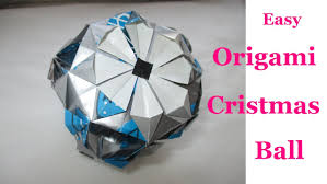 origami christmas ball easy d i y christmas decoration youtube