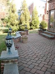 Patio Pavers Ta Paver Patio And Sitting Wall Sitting Wall At Height Is Key
