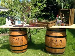 Wine Barrel Bar Table Wine Barrel Bistro Table And Chairs Diy Wine Barrel Bar Table Wine