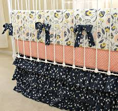 Custom Girls Bedding by Custom Baby Bedding Crib Set Navy And Peach Baby Bedding