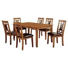 Light Oak Dining Room Sets by Mibasics 7pc Square Dining Table Set Wood Light Oak Target