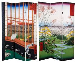 Asian Room Dividers by 6 Ft Tall Double Sided Hiroshige Room Divider Asakusa Rice