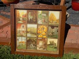 Homco Home Interior Vintage Homco Home Interior Interiors Window Pane Picture Fall