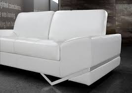 White Leather Sofa Modern Inspirations Contemporary White Leather Sofa With Home Sofas White