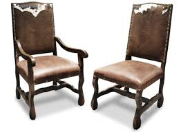 Leather Dining Room Chairs With Arms Rustic Leather Dining Chairs Bmorebiostat