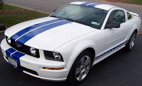 white mustang blue stripes need blue stripe material the mustang source ford mustang forums