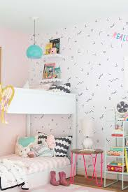 A Shared Bedroom With Bunk Beds Lay Baby Lay - Girls room with bunk beds